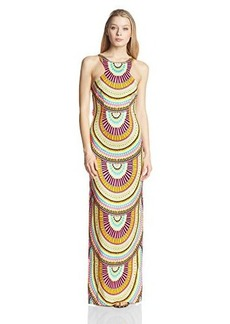 Mara Hoffman Women's High Neck Column Dress, El Mundo Lilac, 8