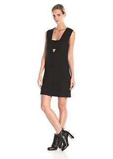 Mara Hoffman Women's Ponte Sleeveless Bandeau Shift Dress, Black, Medium