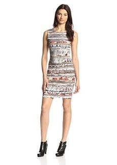 Mara Hoffman Women's Print Fitted Dress, Fringe, Large