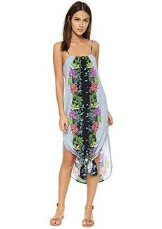 Mara Hoffman Women's Printed Sleeveless Jardin Dress, Jardin Majorelle Black, Large