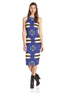 Mara Hoffman Women's Printed Sleeveless Midi Dress, Keeper Blue, 4