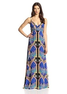 Mara Hoffman Women's Pyramid Night Navy Silk Crossover Maxi Dress
