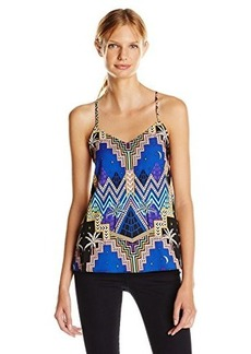 Mara Hoffman Women's Pyramid Night Navy Silk Racerback Cami Top