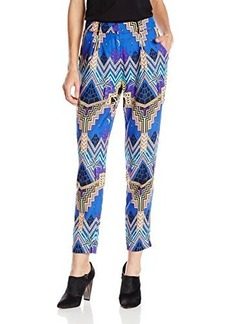 Mara Hoffman Women's Pyramid Night Navy Silk Slouch Pant