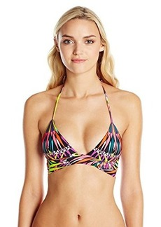 Mara Hoffman Women's Reversible Wrap Around Triangle Bikini Top