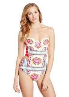 Mara Hoffman Women's Shakti Strappy Bustier One Piece Swimsuit