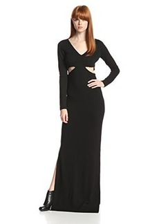 Mara Hoffman Women's Side Cutout Long Sleeve Evening Gown