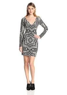 Mara Hoffman Women's Star Side Cutout Long Sleeve Fitted Dress