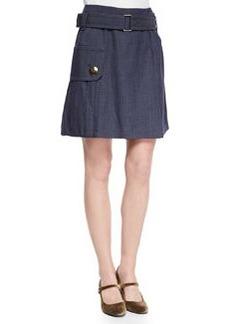 Belted Pocket Flounce Skirt   Belted Pocket Flounce Skirt