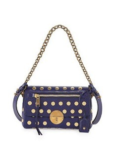 Flat Studs Small Gotham Shoulder Bag, Blue   Flat Studs Small Gotham Shoulder Bag, Blue