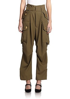 Marc Jacobs Belted High-Waist Cargo Pants
