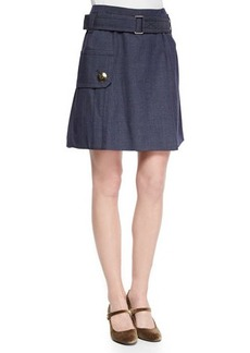 Marc Jacobs Belted Pocket Flounce Skirt