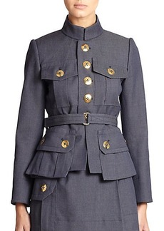 Marc Jacobs Belted Wool Military Jacket