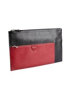 Marc Jacobs black and raspberry leather zip portfolio
