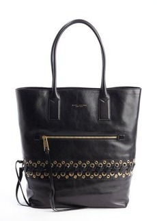 Marc Jacobs black leather 'Cargo' tote bag with laced eyelet detail