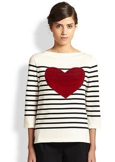 Marc Jacobs Breton Stripe Heart Top