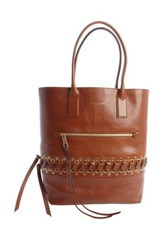 Marc Jacobs brown leather 'Cargo' tote bag with laced eyelet detail
