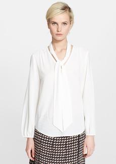 MARC JACOBS Button Front Silk Blouse