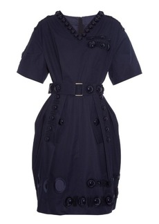 Marc Jacobs Cabochon-embellished cotton-twill dress