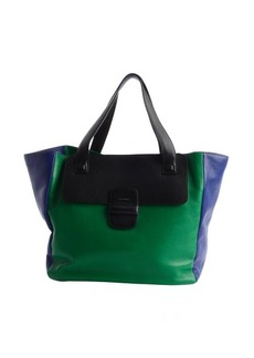 Marc Jacobs cobalt and emerald colorblock leather large tote