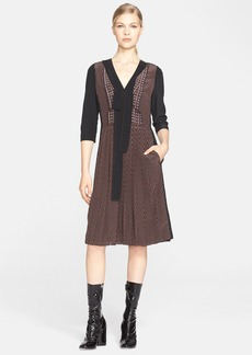 MARC JACOBS Colorblock Crêpe de Chine Dress