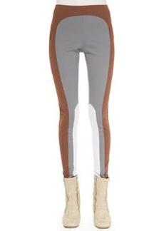 Marc Jacobs Colorblock Leggings, Gray/Cocoa/Lilac
