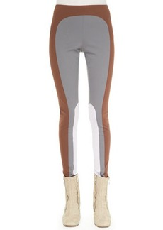 Marc Jacobs Colorblock Leggings, Gray/Cocoa/Lilac