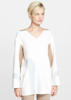 MARC JACOBS Contrast Wave V-Neck Tunic