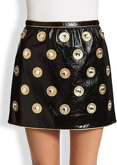 Marc Jacobs Crinkled Leather Mini Skirt