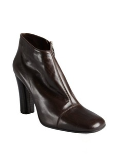 Marc Jacobs dark chocolate square cap toe ankle boots