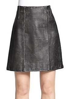 Marc Jacobs Distressed Leather Skirt