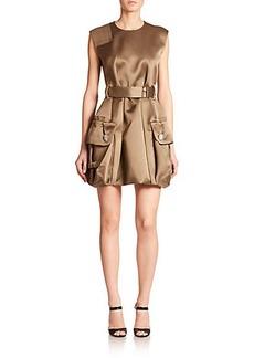 Marc Jacobs Double-Pocket Silk Satin Twill Dress