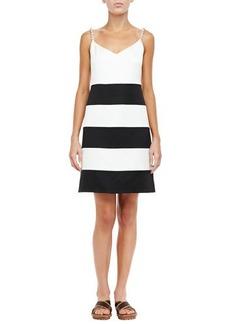 Marc Jacobs Embellished-Shoulder Tank Dress