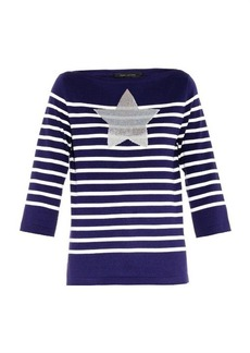 Marc Jacobs Embellished striped sweater