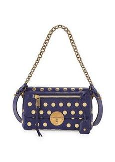 Marc Jacobs Flat Studs Small Gotham Shoulder Bag, Blue
