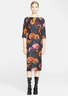 MARC JACOBS Floral Print Silk Twill Dress