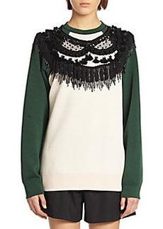 Marc Jacobs Fringed Crewneck Sweatshirt