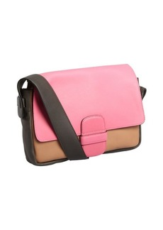 Marc Jacobs fuchsia colorblock leather 'Violet' shoulder bag