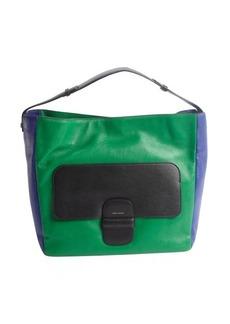 Marc Jacobs green and blue lambskin colorblock shoulder bag