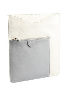 Marc Jacobs ivory and light grey leather iPad case