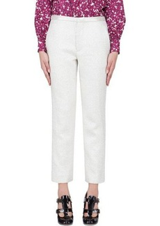 Marc Jacobs Ivory Lamé Cropped Antonia Trousers