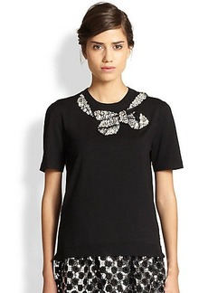 Marc Jacobs Jeweled Bow Sweater