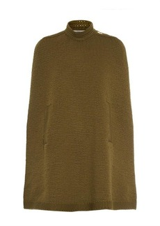 Marc Jacobs Knitted wool-blend cape