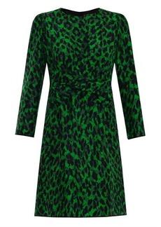Marc Jacobs Leopard-print bow-front dress