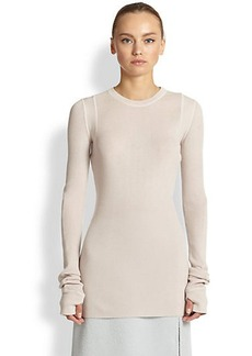 Marc Jacobs Lightweight Ribbed Cashmere Pullover