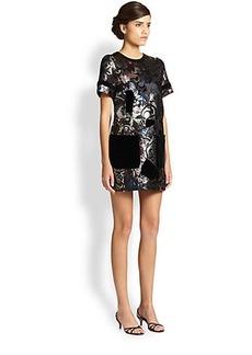 Marc Jacobs Lurex Patchwork Dress