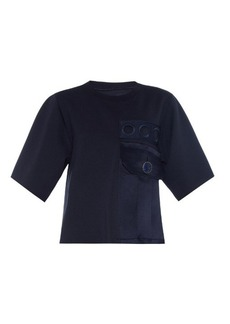 Marc Jacobs Military double-knit silk-blend top