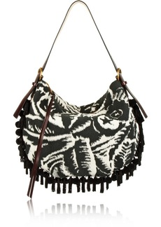 Marc Jacobs Nomad embellished terry-jacquard shoulder bag