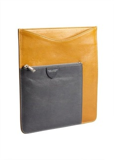 Marc Jacobs ocher and grey leather iPad case