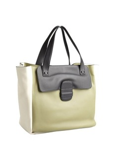 Marc Jacobs olive and ivory leather tote